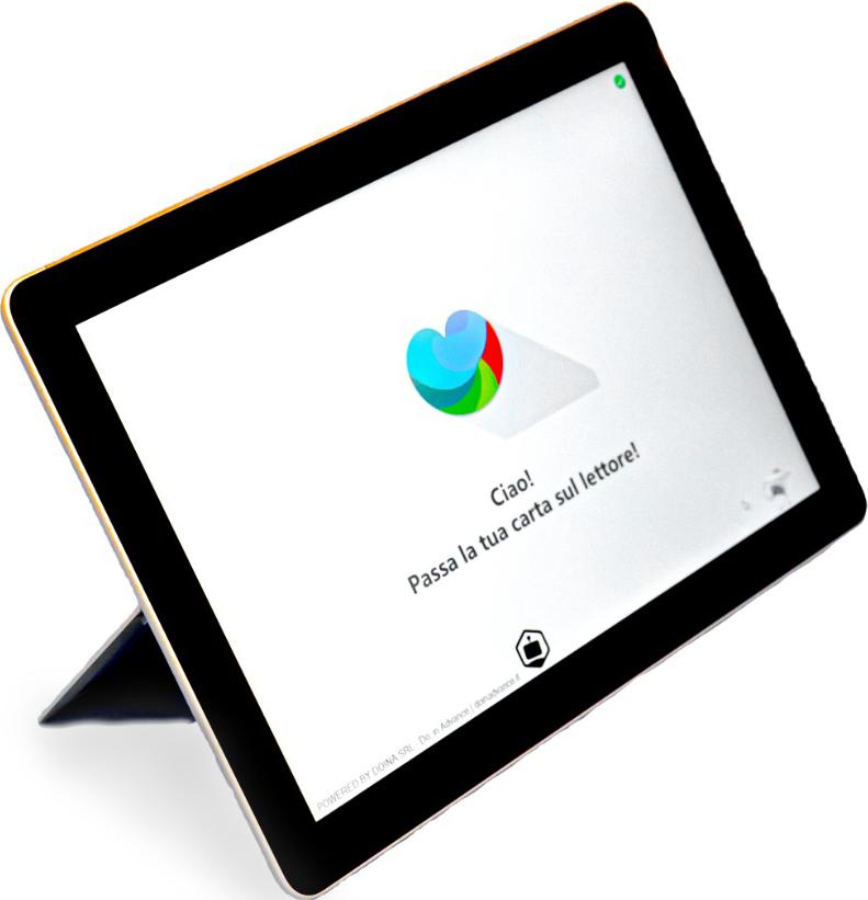 postazione tablet videochiamata case di riposo